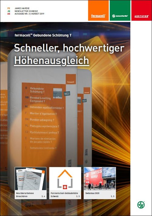 Newsletter James Hardie Schweiz 3/2019